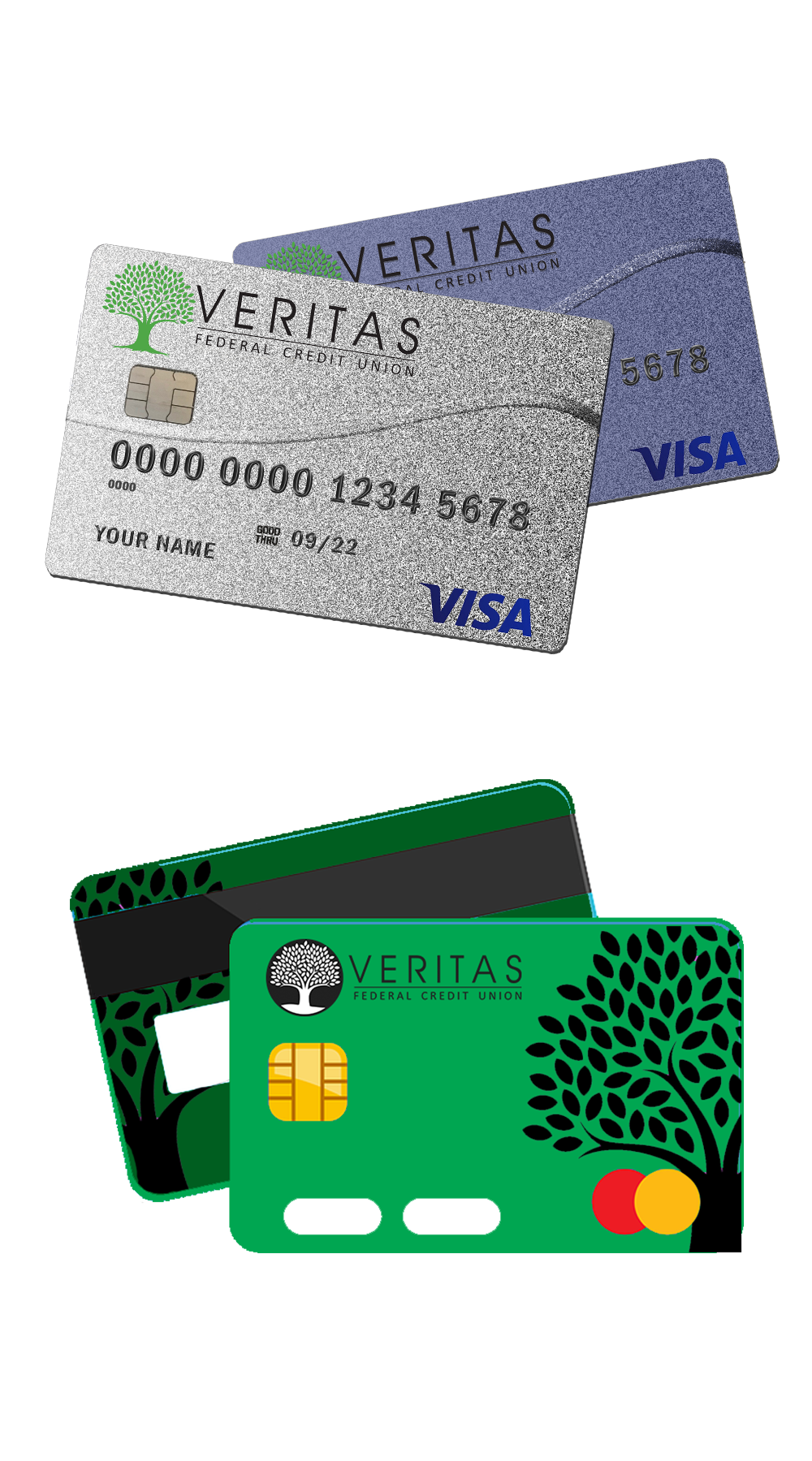 Types of Veritas Federal Credit Union cards
