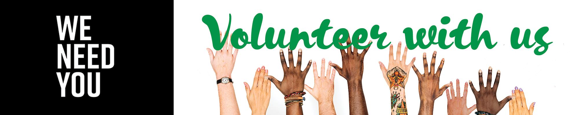 diverse volunteer hands